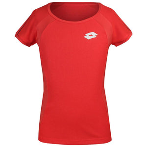 Lotto Girls Team Tee - Red Fluo