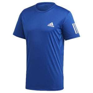 adidas Men's Club 3 Stripe Tee - Royal Blue