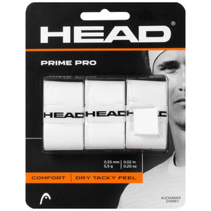 HEAD Prime Pro Overgrip 3 Pack - White