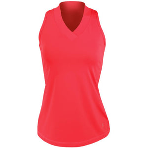 Sofibella Women's UV Colors Athletic Racerback Tank - Berry Red
