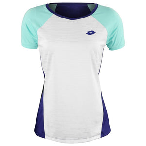 Lotto Women's Top Ten II Tee - White/Green