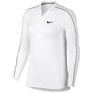 Nike Women's Court Dry 1/2 Zip Longsleeve - White