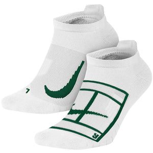 Nike Court Multiplier Max No-Show 2 Pack Socks - White