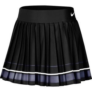 Nike Women's Court Dry Striped Skirt - Black