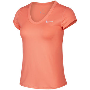 Nike Women's Court Dry Short Sleeve Top - Sunblush