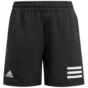 adidas Boys Club 3 Stripe Short - Black