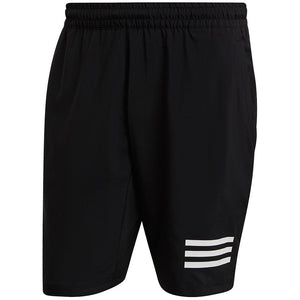 adidas Men's Club 3 Stripe Short - Black
