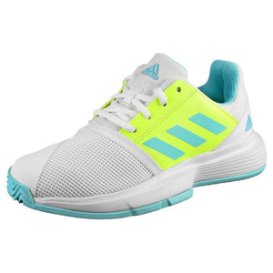 adidas Junior CourtJam X - Cloud White/Hazy Sky
