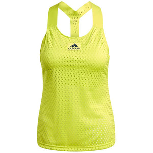 adidas Women's HEAT.RDY Primeblue Tennis Y-Tank Top - Acid Yellow