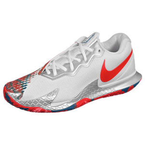 Nike Men's Air Zoom Vapor Cage 4 - White/Orange