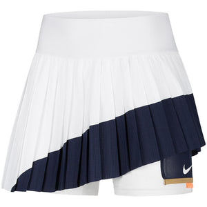 Nike Women's Slam Melbourne Skirt - White/Obsidian