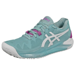 Asics Women's Gel-Resolution 8 - Smoke Blue/White