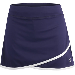 "Sofibella Women's UV Staples 14"" Skort - Navy"