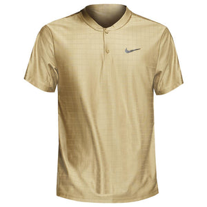 Nike Men's Advantage Henley Polo - Beige