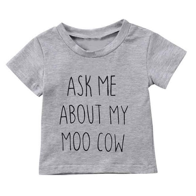 Ask Me About My Moo Cow Tee