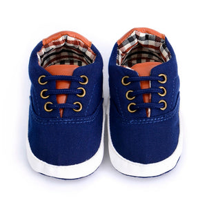 Navy Canvas Soft Sole Shoe