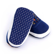 Load image into Gallery viewer, Navy Canvas Soft Sole Shoe