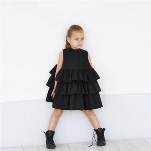 Luciana Sleeveless Ruffle Dress