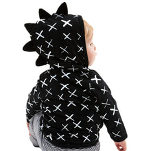 Load image into Gallery viewer, Charlie Zip Front Dinosaur Hoodie