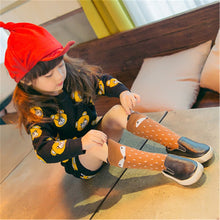 Load image into Gallery viewer, Brown Fox Knee High Socks