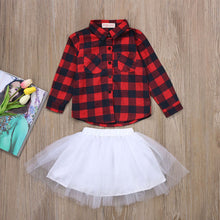 Load image into Gallery viewer, Mandy 2 Piece Plaid Tutu Skirt Set