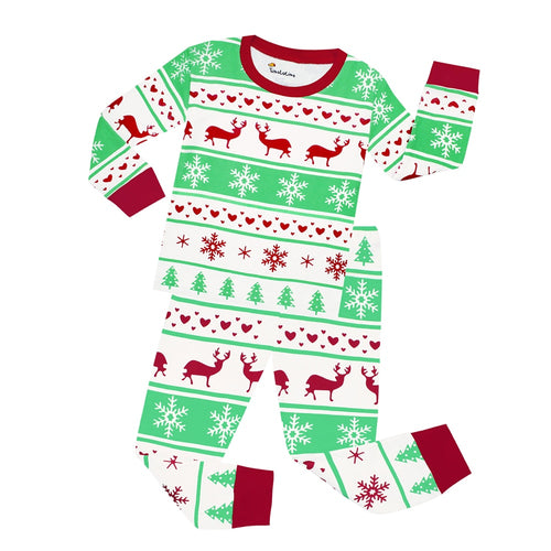 Reindeer 2 Piece Pajama Set