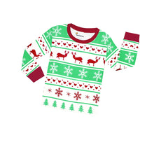 Load image into Gallery viewer, Reindeer 2 Piece Pajama Set