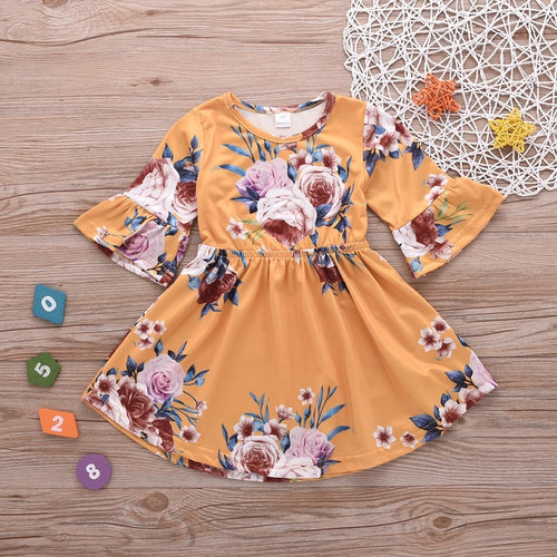 Flora 3/4 Sleeve Dress