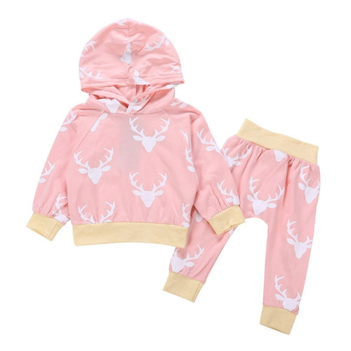 Reindeer 2 Piece Hooded Set