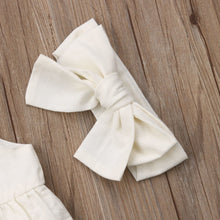 Load image into Gallery viewer, Rielle 3 Piece Ruffle Sunsuit Set