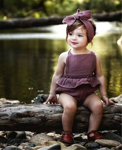 Carly Romper with Matching Headband