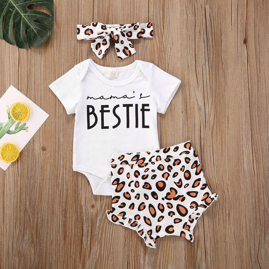 Leopard 3 Piece Mama's Bestie Outfit
