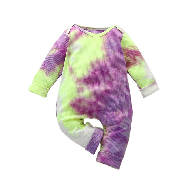 Tie-Dye Ribbed One Piece
