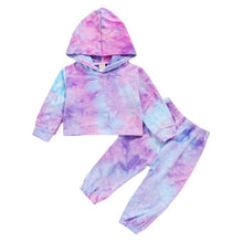 Load image into Gallery viewer, Tie-Dye Cropped Hoodie Set