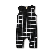 Load image into Gallery viewer, Windowpane One Piece Romper