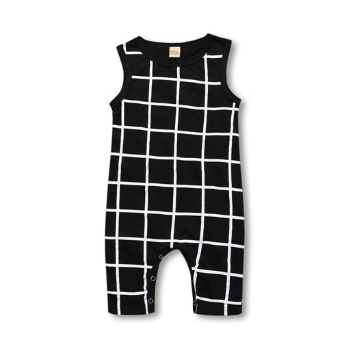 Windowpane One Piece Romper