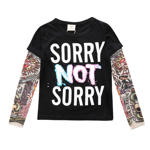 Sorry Not Sorry Tattoo Sleeve Tee