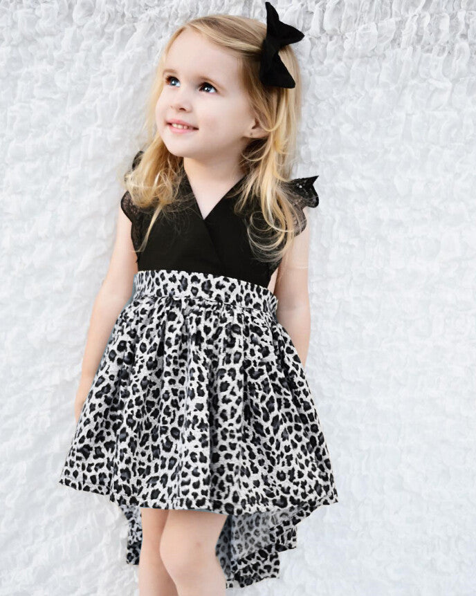 Ginger Leopard Dress with Hair Accessory