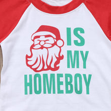 Load image into Gallery viewer, Santa is My Homeboy Baseball Tee