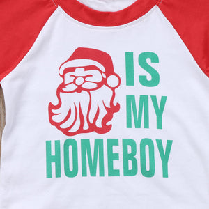 Santa is My Homeboy Baseball Tee