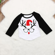 Load image into Gallery viewer, Reindeer Santa Baseball Tee