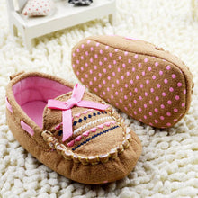 Load image into Gallery viewer, Embroidered Moccasin with Pink Ribbon