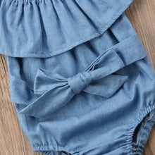 Load image into Gallery viewer, Sharna Chambray Jumpsuit with Matching Bow
