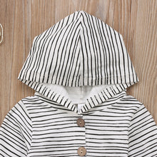 Load image into Gallery viewer, Bernie Striped Hooded One Piece