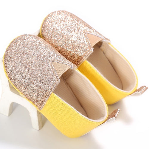 Gold Glitter Slip On Shoe