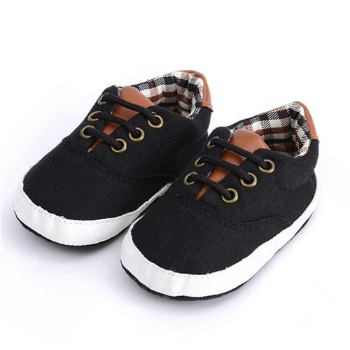 Black Canvas Soft Sole Shoe