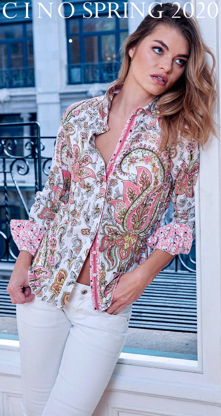 ARUBA GERANIUM BUTTON DOWN SHIRT