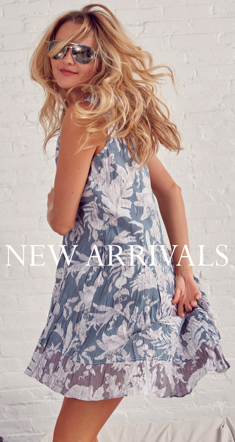 FADED FLORAL BLUE DRESS