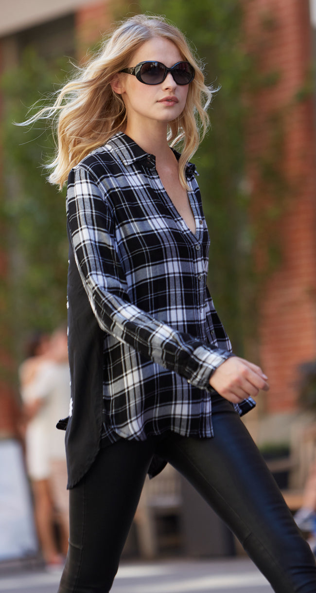 TOILE BLACK PLAID