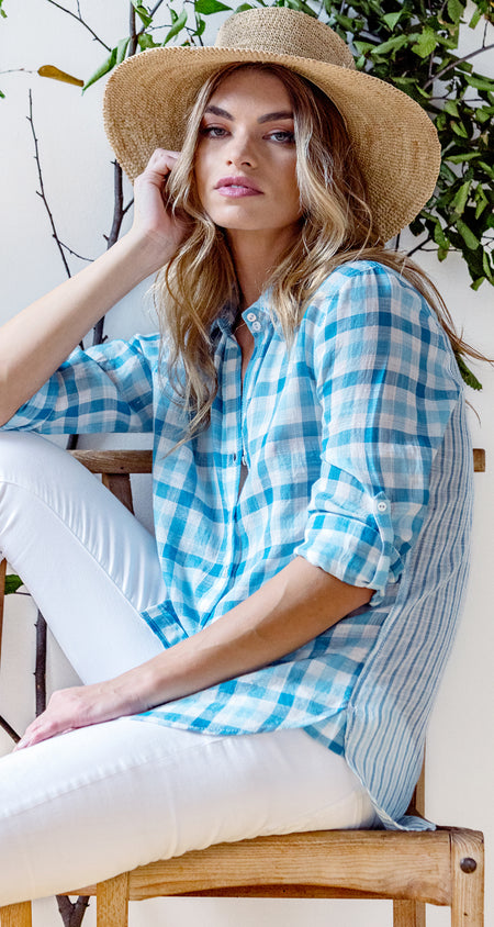 SAN JUAN ROBIN'S EGG BUTTON DOWN SHIRT